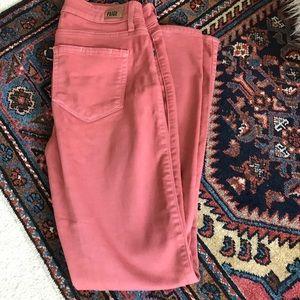 Paige pink crop verdugo jeans 26